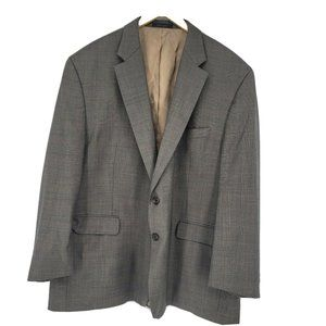 Lauren Ralph Lauren Brown Wool Suit Jacket 52R